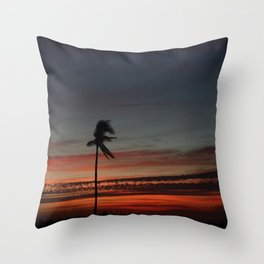 Lonely Sunset Throw Pillow