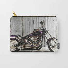 Purple Harley Softail Carry-All Pouch