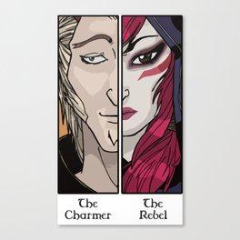 Rakan the Charmer Xayah the Rebel League of Legends Canvas Print