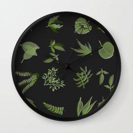 plants on black Wall Clock