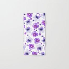 Modern purple lavender watercolor floral pattern Hand & Bath Towel