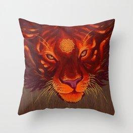Fire Tiger Throw Pillow