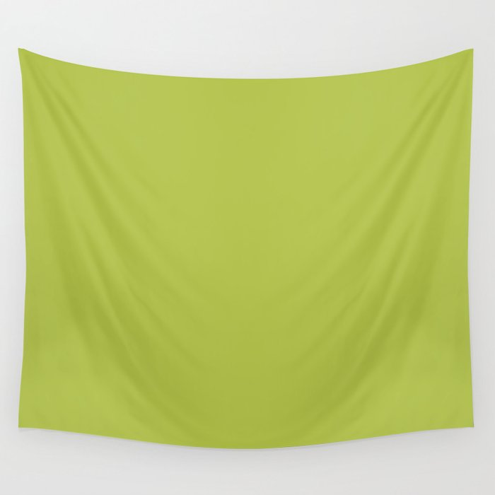 Simple Solid Color Avocado Green All Over Print Wall Tapestry