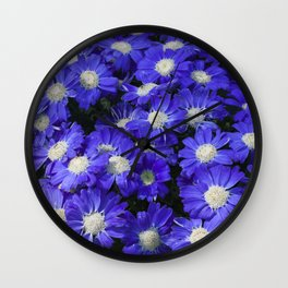 Cineraria Blue Wall Clock