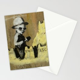 Banksy on the beach Stationery Cards