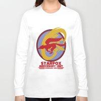 starfox Long Sleeve T-shirts featuring Mercenary Unit - Starfox by TomStreetArt