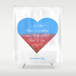 Love is Artistic Shower Curtain