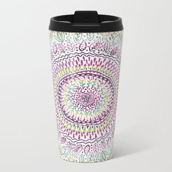 Intricate Spring Metal Travel Mug