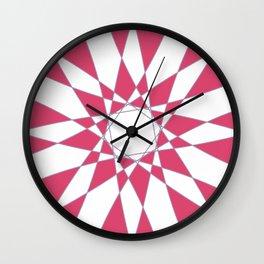 Red Crystal Wall Clock