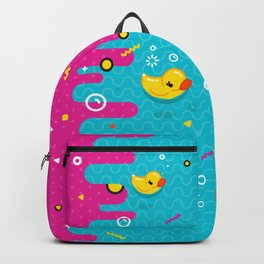 Rubber Ducky Party Time Backpack