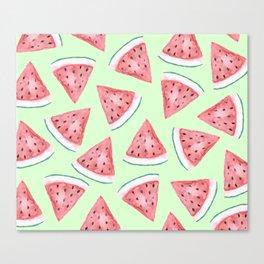 Watermelon Press Canvas Print