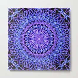 Beads of Light Mandala Metal Print