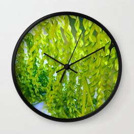 Palm Leaves Art Wall Clock
