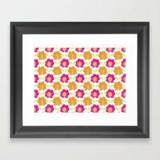Friendship Flowers Framed Art Print