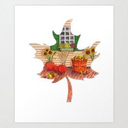 Maple Leaf Fall Art Print