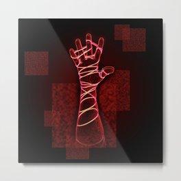 Reach Red Metal Print