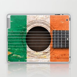 Old Vintage Acoustic Guitar with Irish Flag Laptop & iPad Skin