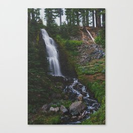 Obsidian Falls - Pacific Crest Trail, Oregon Canvas Print