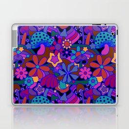 70's Psychedelic Garden in Cool Jeweltone Laptop & iPad Skin