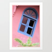 morrocan Art Prints featuring Blue Morrocan Window by Brian Raggatt