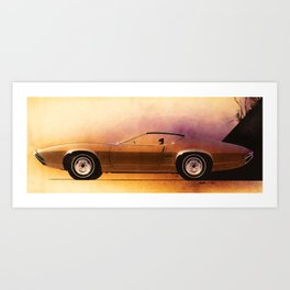 1968 Muscle Car Sketch Art Print