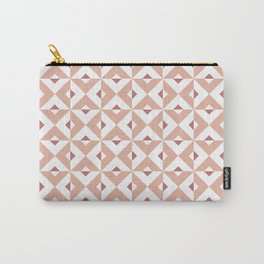 Pink Cross Pattern Carry-All Pouch