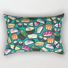 Sushi Aqua Rectangular Pillow