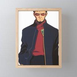 Gendo Ikari, Neon Genesis Evangelion Framed Mini Art Print