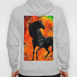 HORSE MOON AND DRAGONFLY VISIONS Hoody