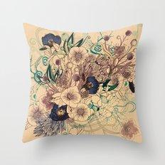 Zentangle Floral mix Throw Pillow