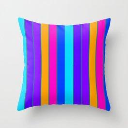 sTRIPES Colorful  Throw Pillow