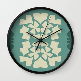 cutout shapes-teal Wall Clock