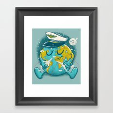 The Greatest Round Trip Framed Art Print