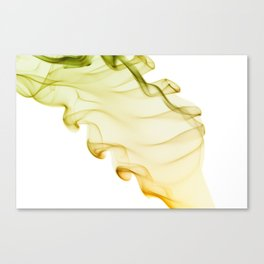 Yellow green twisted smoke abstracts Canvas Print
