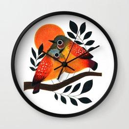 Fluffy Birds Wall Clock