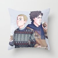 enerjax Throw Pillows featuring Autumn Baker Street Boys by enerjax
