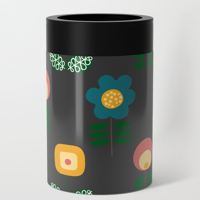 Mid Century Flowers Can Cooler