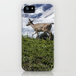 Deer Heading Up the Mountain, No. 1 iPhone Case