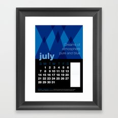 2013 Pigment to Pantone Calendar – JULY Framed Art Print