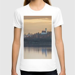 Nature lake and view to St.Martins Church T-shirt