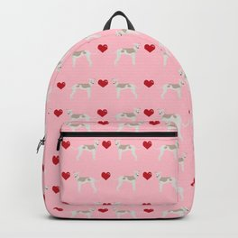 Italian greyhound love hearts valentine dog breed gifts Backpack
