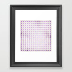Polka dots and shadows on textured background Framed Art Print