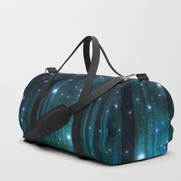 Glowing Space Woods Duffle Bag