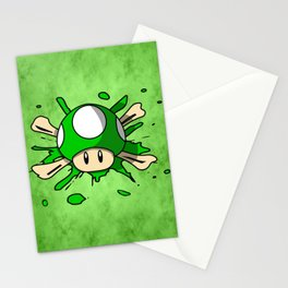 1-Up Mushroom Crossbones Stationery Cards