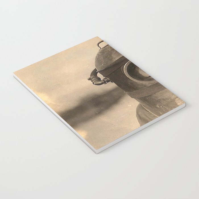 Scaphandre vintage photo Notebook