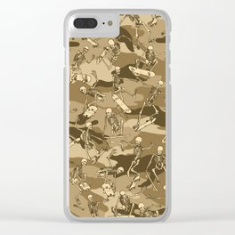 Grim Ripper Skater Camo DESERT Clear iPhone Case