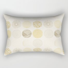 Decorative Pattern in Brown and Beige Rectangular Pillow