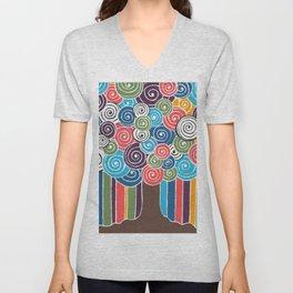 Spiral Of Life Tree Unisex V-Neck