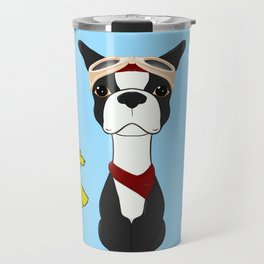 Bobble Pilot Boston Terrier Travel Mug