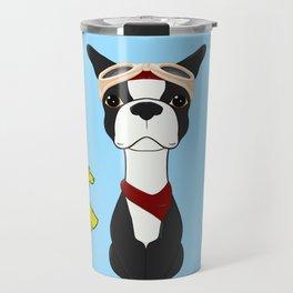 Bobble Pilot Boston Terrier Travel Mug